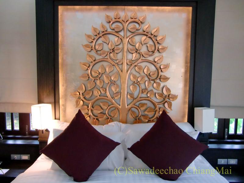 チェンマイの高級ブティックホテル、ボディセリーンのベッド