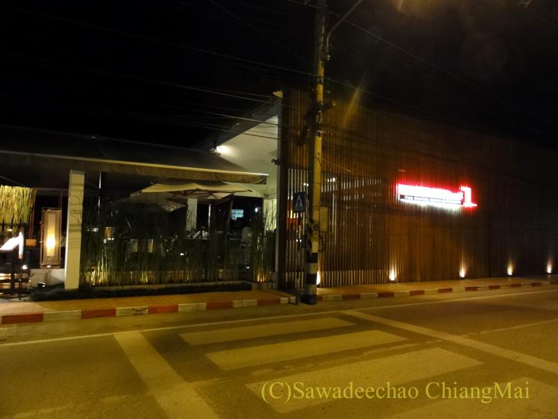 チェンマイのフュージョン料理レストラン、Deck1の外観