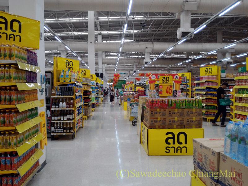 チェンマイのスーパーマーケット、テスコロータスの店内