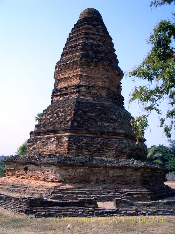 チェンマイ郊外ある都市の遺跡群、ウィアン・ターカーンの第1遺跡群の仏塔
