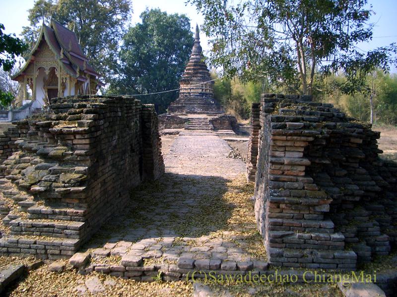 チェンマイ郊外ある都市の遺跡群、ウィアン・ターカーンのワットウボソット