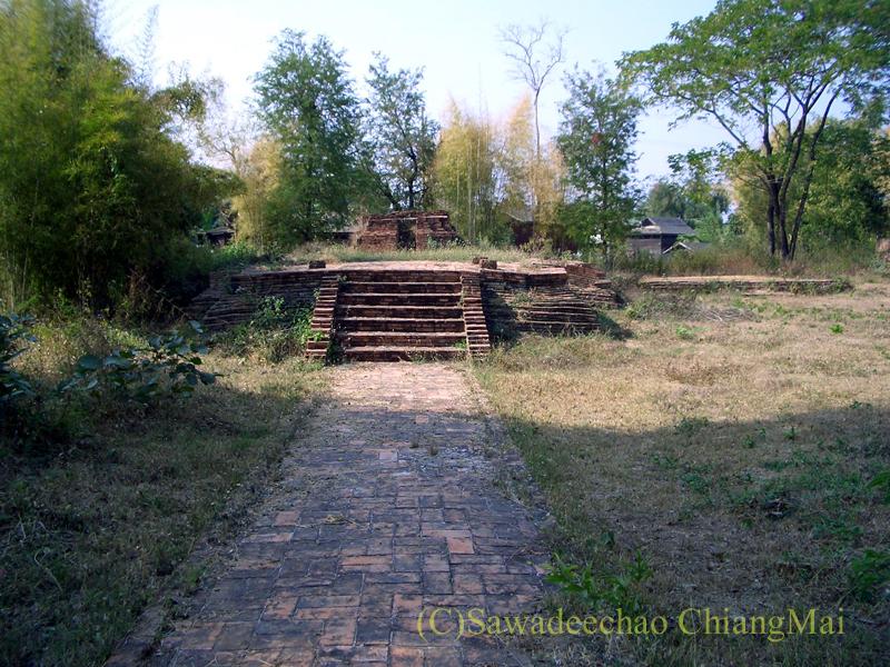 チェンマイ郊外ある都市の遺跡群、ウィアン・ターカーンのワットパーパイルアック
