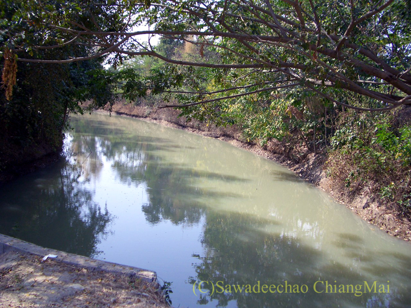 チェンマイ郊外ある都市の遺跡群、ウィアン・ターカーンのお濠