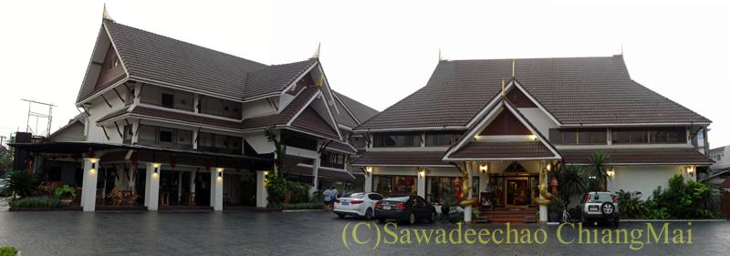 タイのチェンラーイにある中級ホテル、ナークナカラホテルの外観