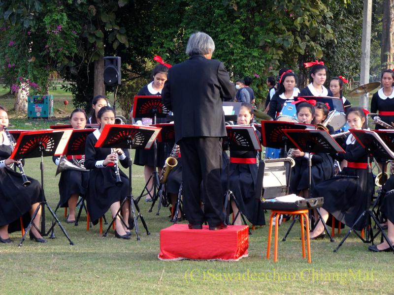 チェンマイにあるジムカーナゴルフクラブの吹奏楽団