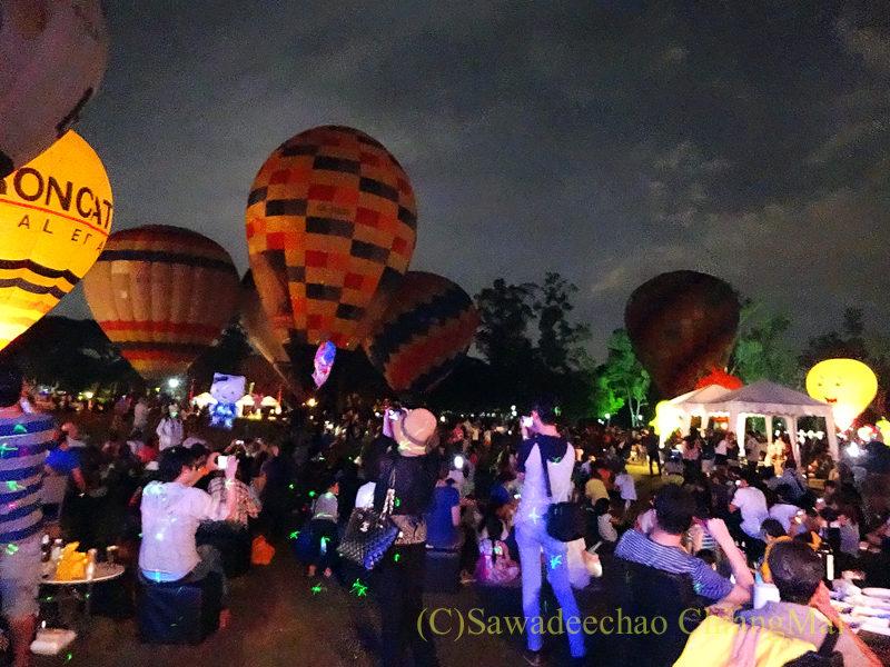チェンマイのタイランドインターナショナルバルーンフェスティバル