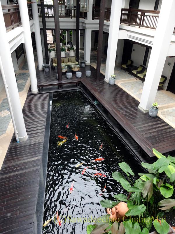タイ北部の街、プレーのフアンナナブティックホテルの館内