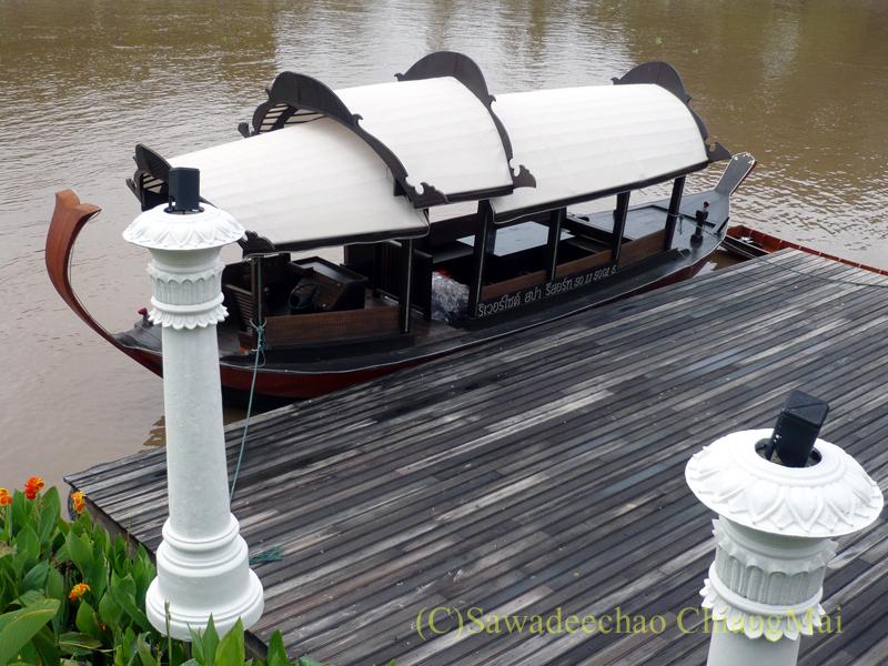 チェンマイのホテル、ラティラーンナーリバーサイドスパリゾートの船着き場
