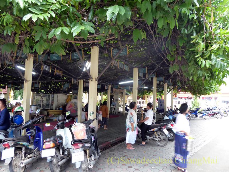 チェンマイにある寺院ワットパーペーンの東屋