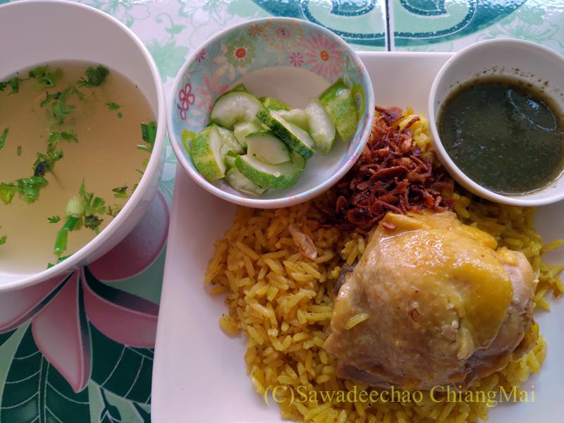 チェンマイのタイ式ビリヤニの店カーオモックガイライラーのカーオモックガイ