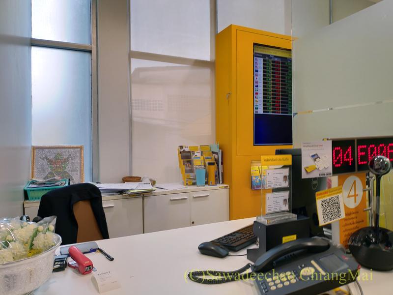 クルンシィ銀行の支店内の風景