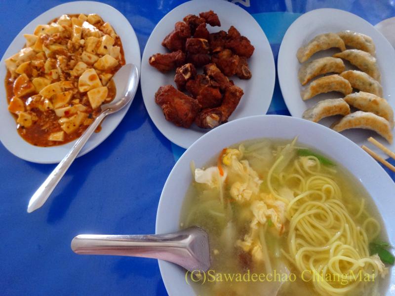 タイのチェンラーイにある中華食堂、歐陽明雲南小吃専賣店