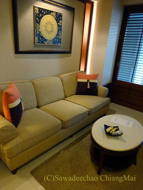 バンコクのホテル、センターポイントスクムビットトンローのソファ