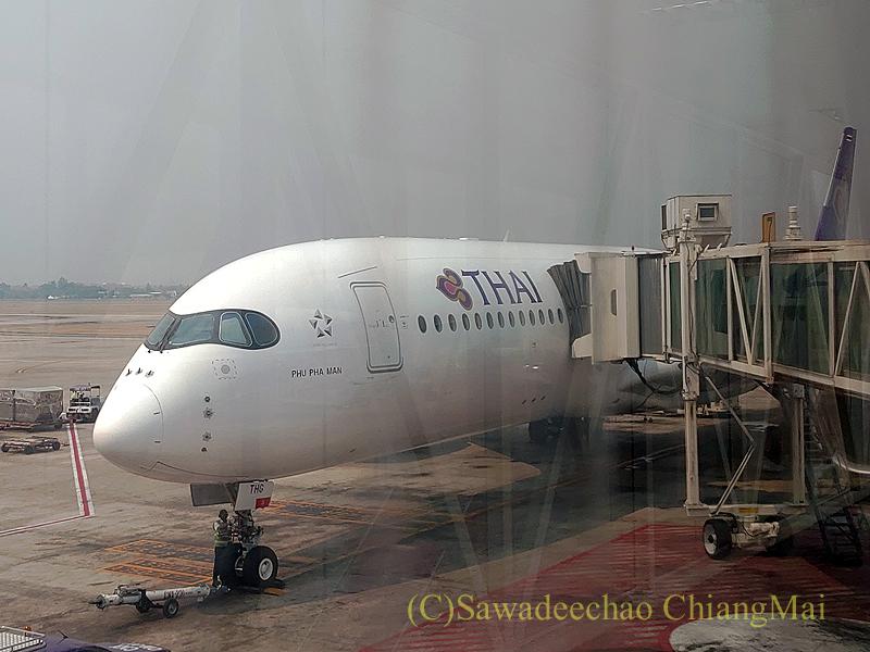 タイ国際航空TG105便の機体