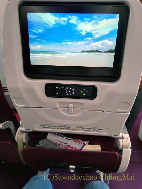 タイ国際航空TG105便のエコノミークラスのシート