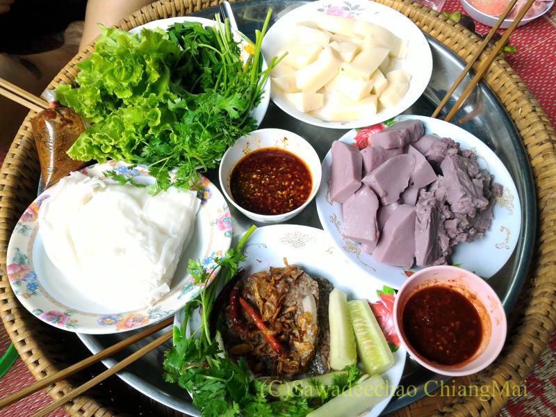 チェンマイの友人宅で食べたさまざまなタイヤイ(シャン族)料理