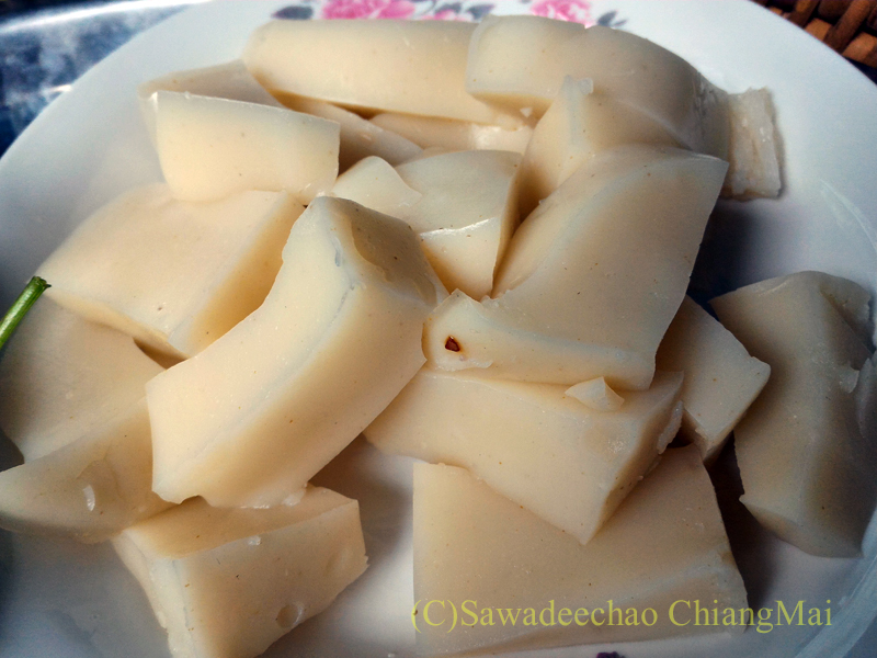 チェンマイの友人宅で食べたタイヤイ(シャン族)料理のカーオフンカオ