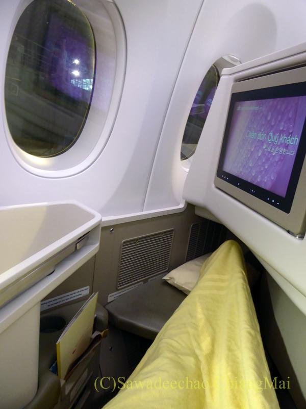 ベトナム航空VN300便成田行きビジネスクラスのシート