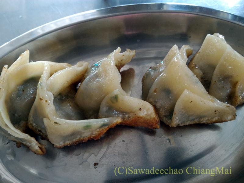 チェンマイの香港麺食堂珍婆婆香港美食店の餃子