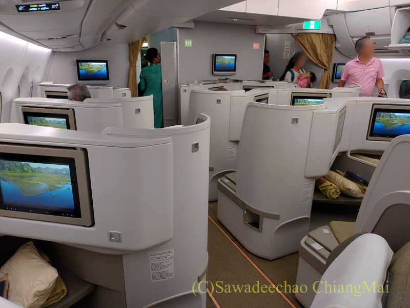 ベトナム航空VN300便成田行きビジネスクラスのキャビン