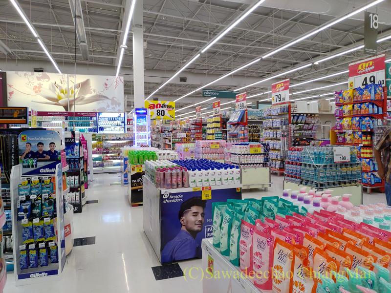 チェンマイにある大型スーパーマーケット、ビッグCの店内