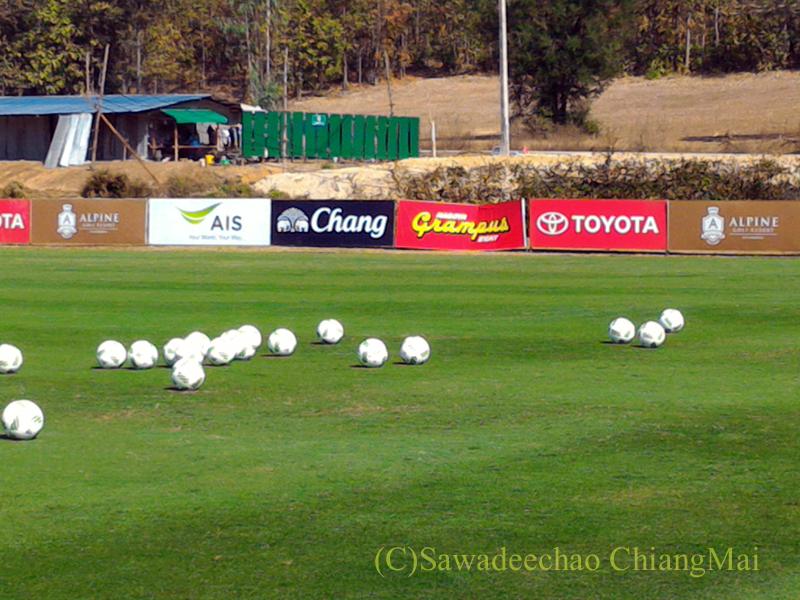 タイのチェンマイでのサッカーJ1名古屋グランパスのキャンプ