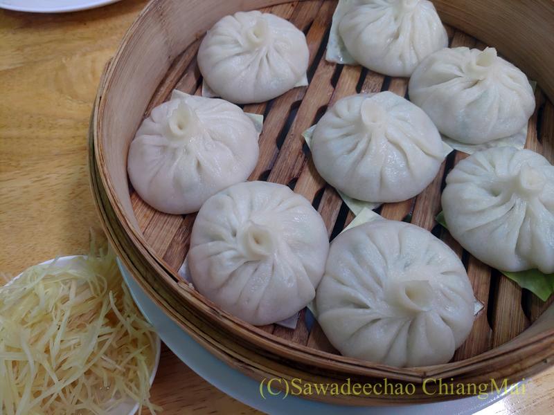 チェンマイにある雲南&台湾料理のフアリンレストランの小籠湯包
