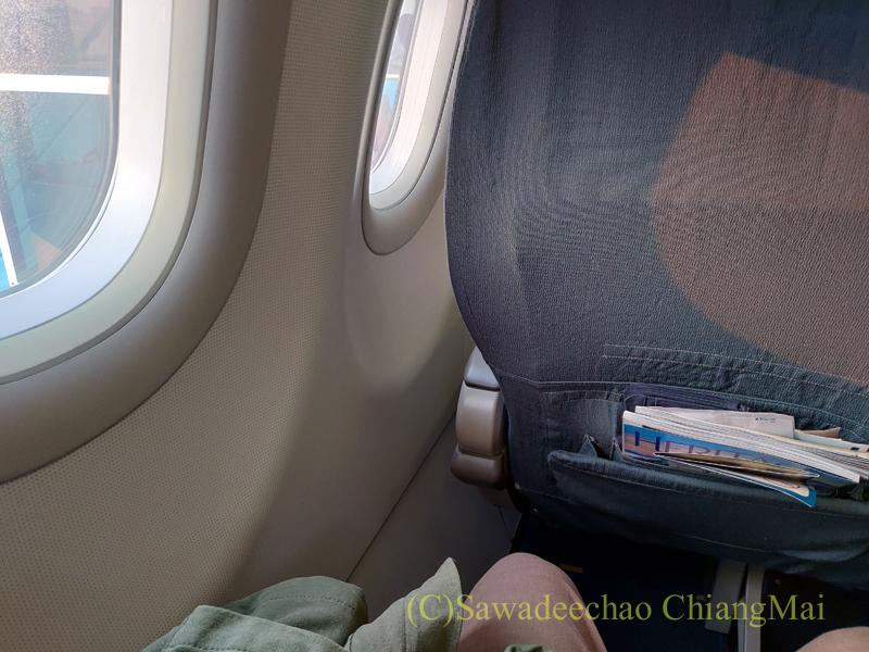 ベトナム航空エアバスA321型機のビジネスクラスの機内