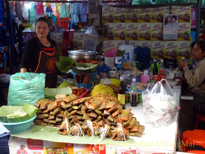 タイ最北部のミャンマー国境の街メーサーイのナーイブンユン市場