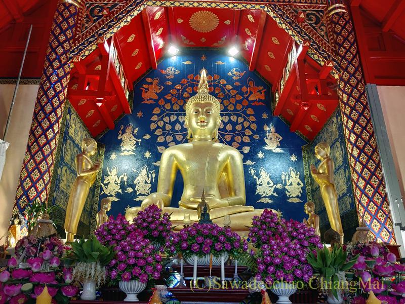 チェンマイで一番美しい仏像、プラチャオガオトゥー全景
