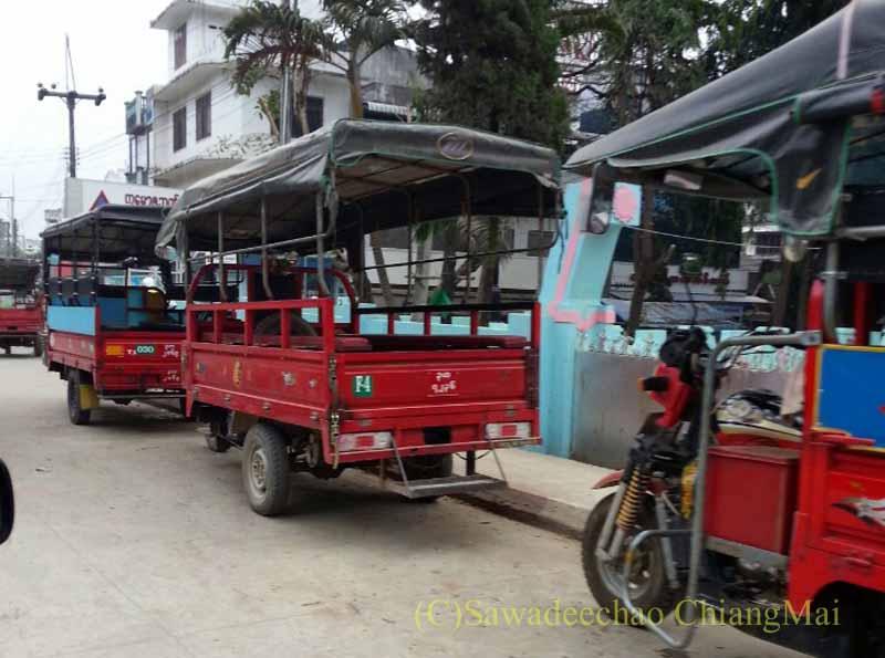 タイのメーサーイと国境を接するミャンマーの街タチレク