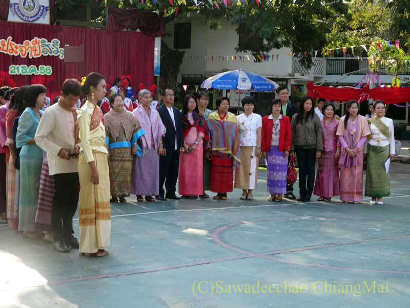 チェンマイ市内の学校で行われた学芸会
