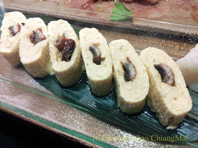 バンコクのエカマイにある高級日本料理レストラン、葉隠の鰻巻き