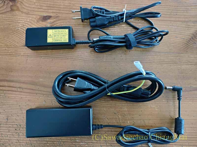 チェンマイ生活や海外旅行用のマウスコンピューターDAIV4Nの電源ユニット比較