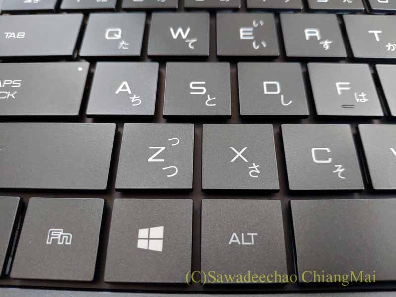 チェンマイ生活や海外旅行用のマウスコンピューターDAIV4Nのキーボード