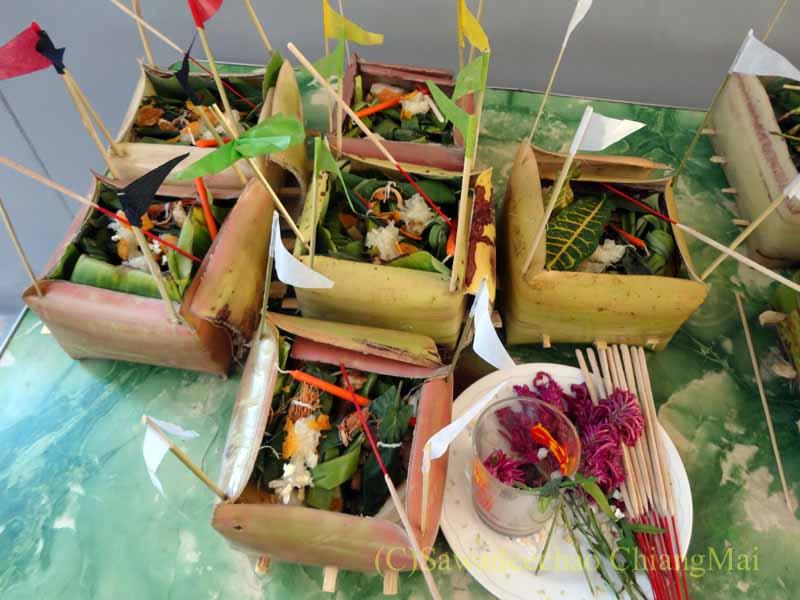 チェンマイのタイ人の知り合いの家の新築祝いの儀式で使う箱