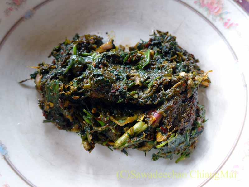 ミャンマーのタチレクで食べたタイヤイ(シャン族)料理