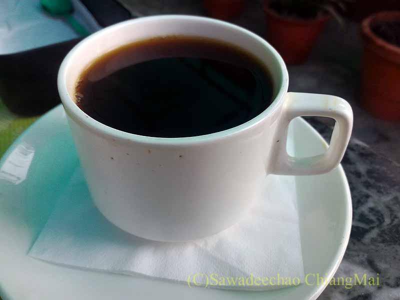 ネパールの首都カトマンズのおすすめ宿アスターホテルの朝食のコーヒー