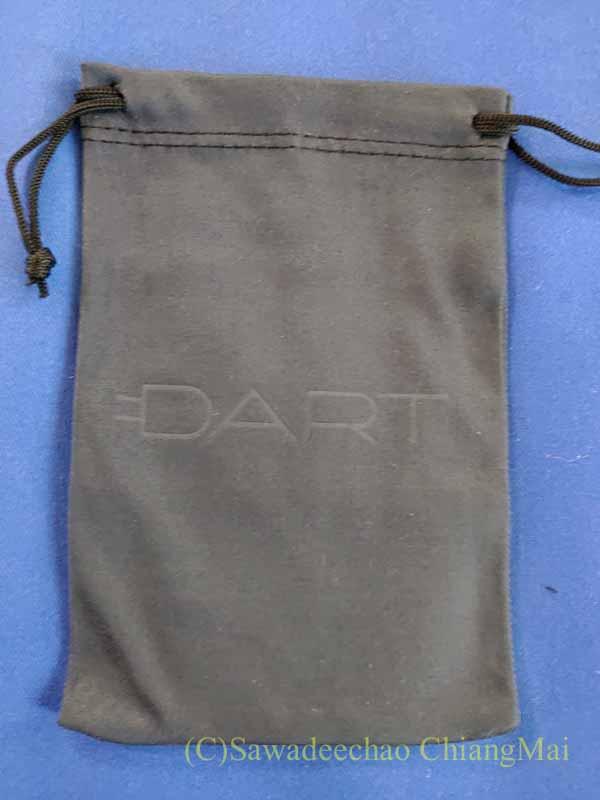 世界最小最軽量のノートパソコン電源アダプターDARTの携帯用ポーチ