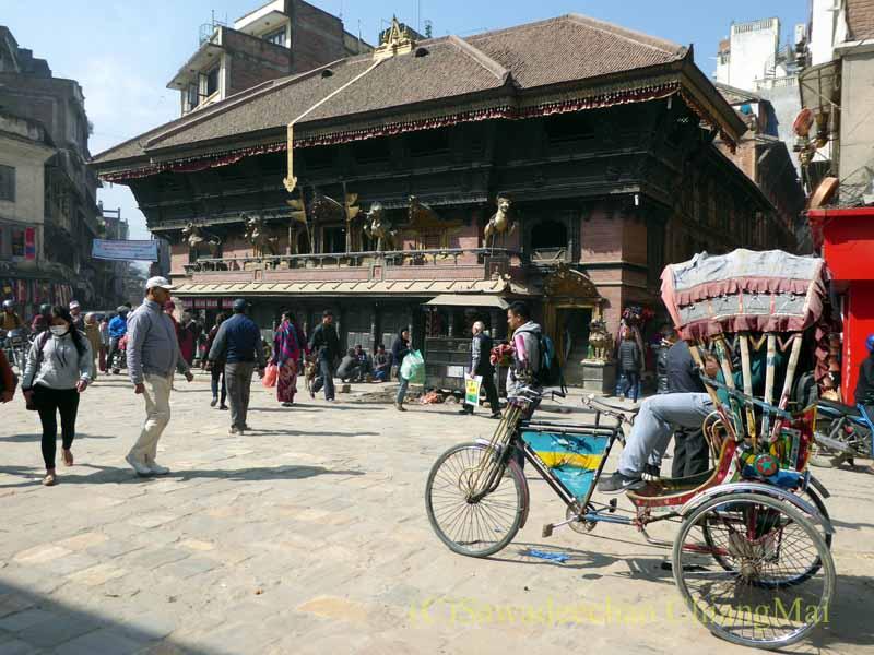 ネパールの首都カトマンズのインドラチョーク