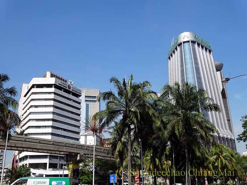マレーシアのクアラルンプール中心部の風景