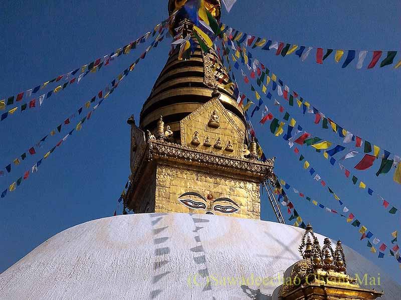 ネパールのカトマンズにあるスワヤンブナート寺院