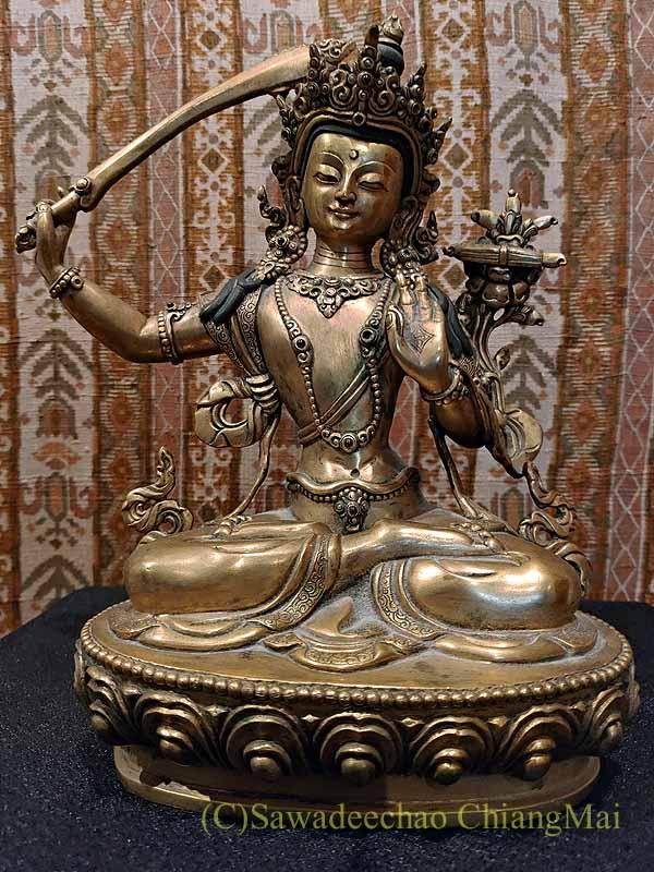 ネパールのカトマンズで作像したマンジュシュリ(文殊菩薩)