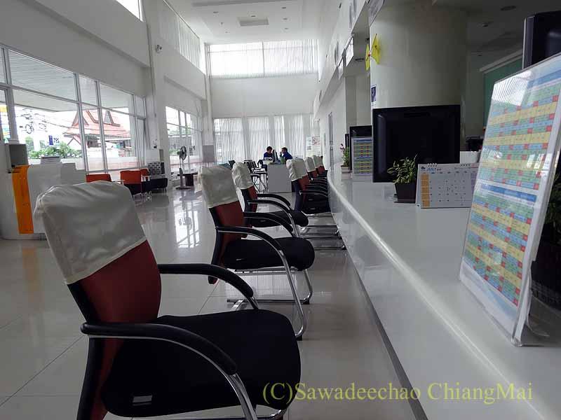 チェンマイのトヨタ車サービスセンターの受付スペース概観