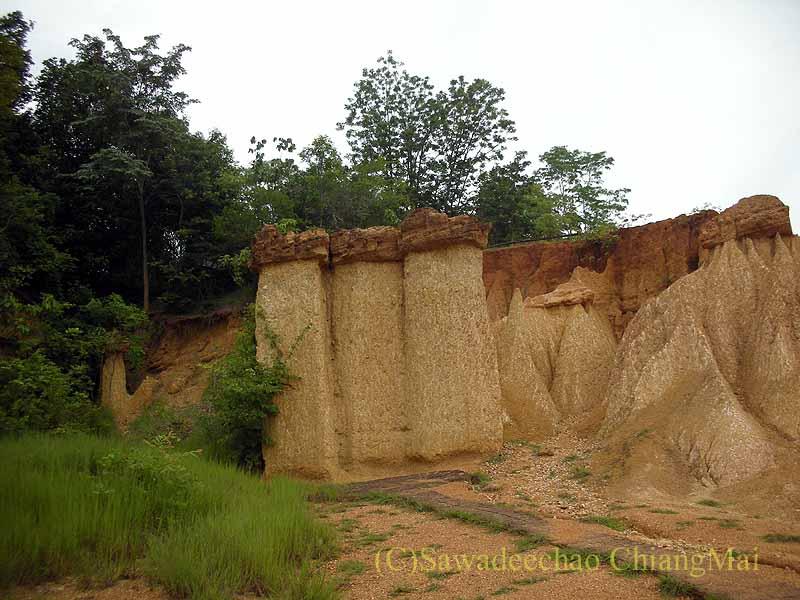 タイのプレー郊外にあるキノコ状の奇岩群ペムアンピー