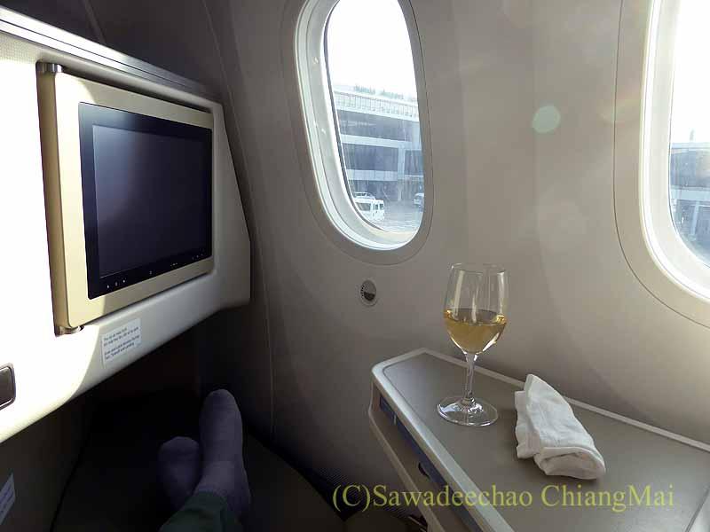 ベトナム航空VN301便ホーチミン行きのビジネスクラスのシート