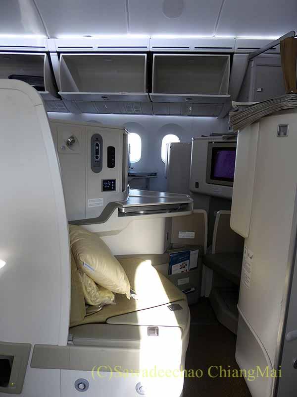 ベトナム航空VN301便ホーチミン行きのビジネスクラスの機内