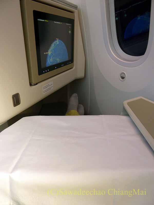 ベトナム航空VN301便ビジネスクラスのテーブルセッティング
