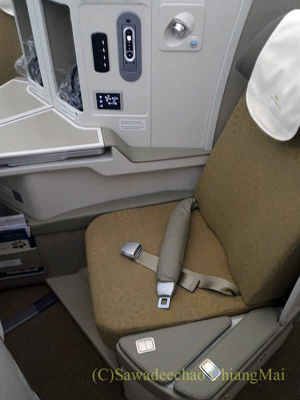 ベトナム航空VN300便成田行きのビジネスクラスのシート