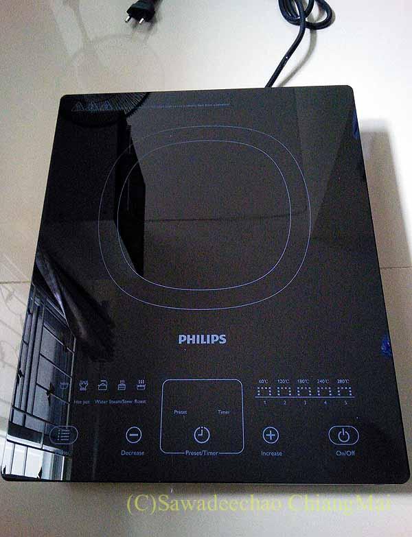 タイのチェンマイ暮らしで購入したIH調理器概観